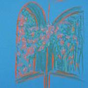 Light Blue Patio Art Print by Marcia Meade