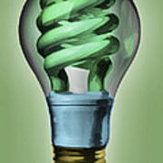 Light Bulb Art Print