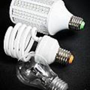 Light Bulb Generations Art Print