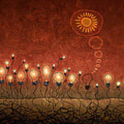 Light Bulb God Print by Gianfranco Weiss