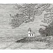Light House On San Juan Island Lime Point Lighthouse Art Print