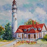 Light House, Wisconsin  Art Print