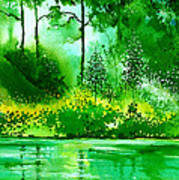 Light N Greens R Art Print