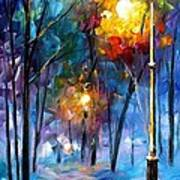 Light Of Luck - Palette Knife Oil Painting On Canvas By Leonid Afremov Art Print