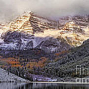 Light On Maroon Bells Art Print