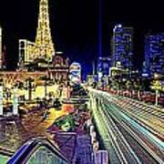 Light Speed Vegas Art Print