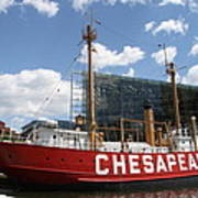 Light Vessel Chesapeake - Baltimore Harbor Art Print