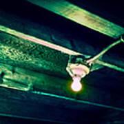 Lightbulb And Cobwebs Art Print