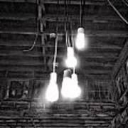 Lightbulbs Art Print