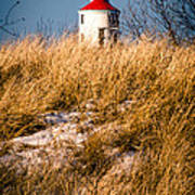 Lighthouse Amongst The Tall Grass Art Print
