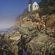 Lighthouse At Bass Harbor Maine Art Print