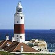 Lighthouse At Europa Point Gibraltar Art Print