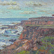 Lighthouse At Point Cabillo  Art Print