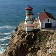 Lighthouse At Point Reyes Art Print