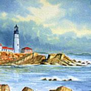 Lighthouse At Portland Head Maine Art Print