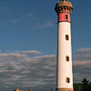 Lighthouse At Ouistreham Art Print