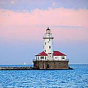 Lighthouse At The Navy Pier Art Print