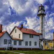 Lighthouse At Whitefish Point Art Print