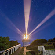 Lighthouse Beams By The Southern Cross Art Print