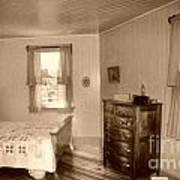 Lighthouse Bedroom In Sepia Art Print