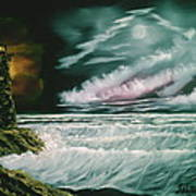Lighthouse Glow Art Print
