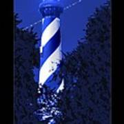 Lighthouse In Blue Art Print by Mike McGlothlen