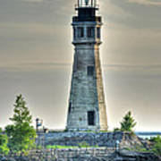 Lighthouse Just Before Sunset At Erie Basin Marina Art Print