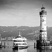 Lighthouse Lindau Lake Constance Germany Art Print