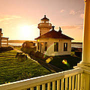 Lighthouse Mukilteo Art Print