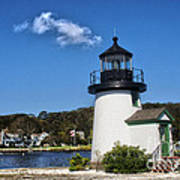 Lighthouse Mystic Seaport Art Print