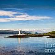 Lighthouse Near Oban In Scotland Art Print