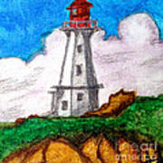 Lighthouse Nova Scotia Art Print