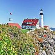Lighthouse Of Maine Art Print