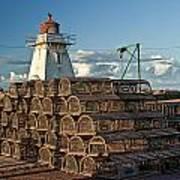 Lighthouse On A Channel By Cascumpec Bay On Prince Edward Island No. 094 Art Print