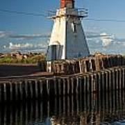 Lighthouse On A Channel By Cascumpec Bay On Prince Edward Island No. 095 Art Print