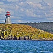 Lighthouse On Brier Island In Digby Neck-ns Art Print