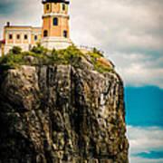 Lighthouse On Split Rock Art Print