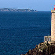 Lighthouse On The Coast, Phare Du Petit Art Print