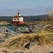 Lighthouse Over The Dunes Art Print