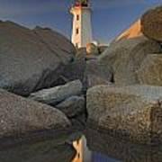 Lighthouse, Peggys Cove, Nova Scotia Art Print