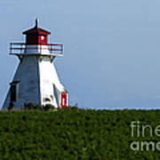 Lighthouse Prince Edward Island Art Print