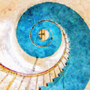 Lighthouse Staircase Art Print