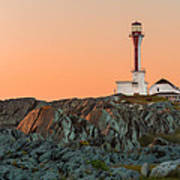 Lighthouse Sunset Art Print