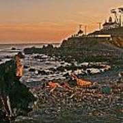 Lighthouse Sunset  Art Print