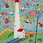 Cape May Point Lighthouse Magic Art Print