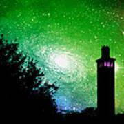 Lighthouse Under The Stars Xii Art Print