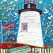 Lighthouse With Music Art Print