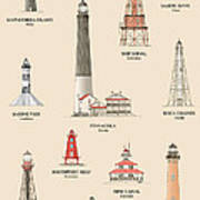 Lighthouses Of The Gulf Coast Art Print