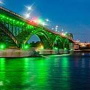 Lighting Up The Waters Of The Niagara River Art Print