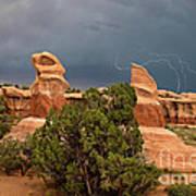 Lightning Devils Garden Escalante Grand Staircase Nm Utah Art Print
